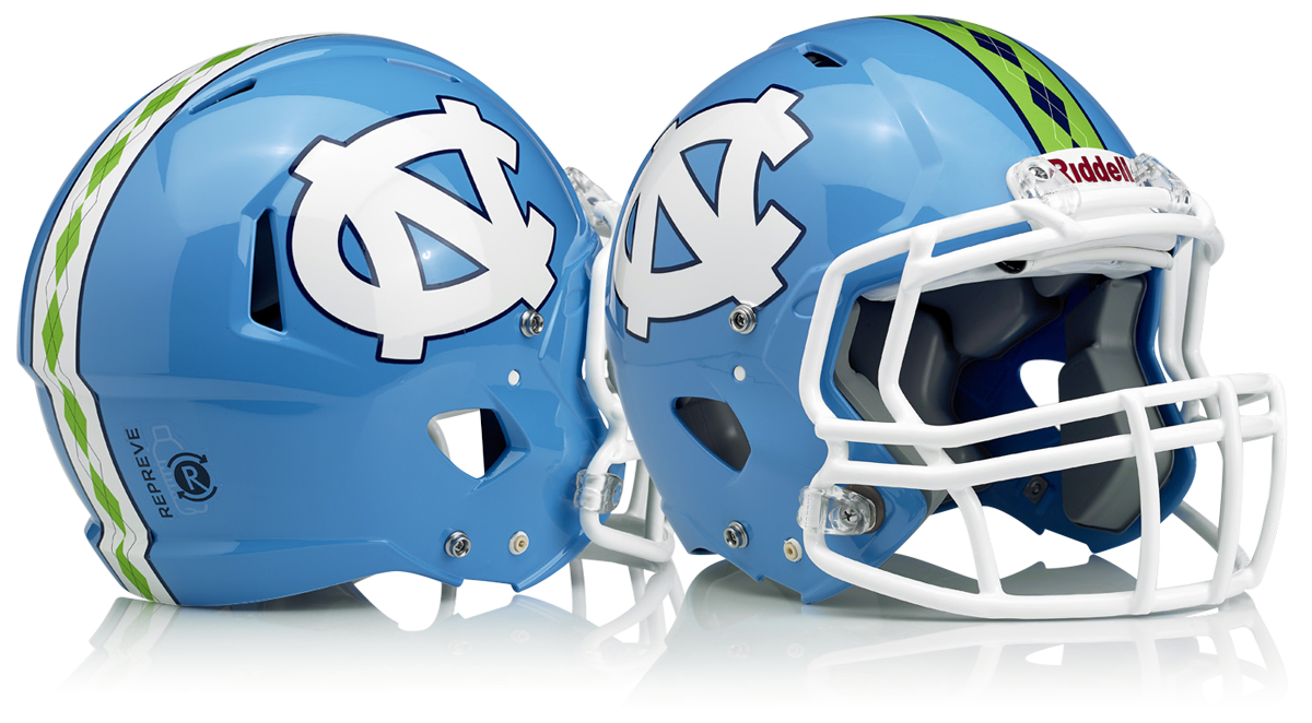 Custom UNC Football Helmets